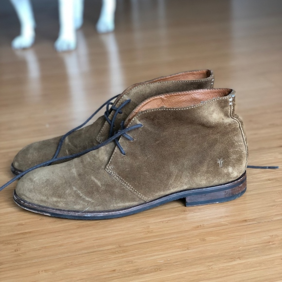 Frye Other - FRYE Men's 10 M Brown Genuine Suede Chukka Boots